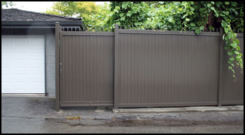 8' ALUMINIUM PRIVACY MANUALLY OPERATED SLIDE DRIVEWAY GATE