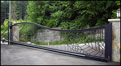 ALUMINIUM ARCHED TOP SLIDING DRIVEWAY GATE