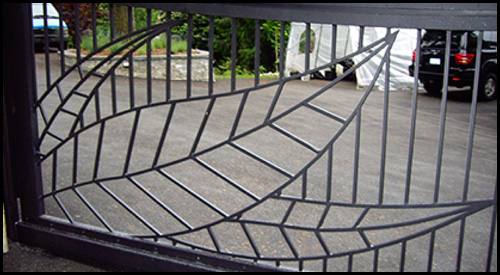 CUSTOM FABRICATED LEAF DESIGN