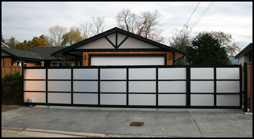 CUSTOM SLIDING AND SWING DRIVEWAY GATES 32' LONG