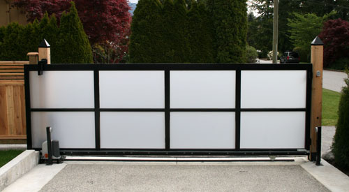 FROSTED PEXI GLASS PRIVACY GATE