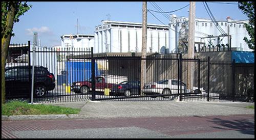 ORNAMENTAL STEEL SLIDING CANTILEVER DRIVEWAY GATE