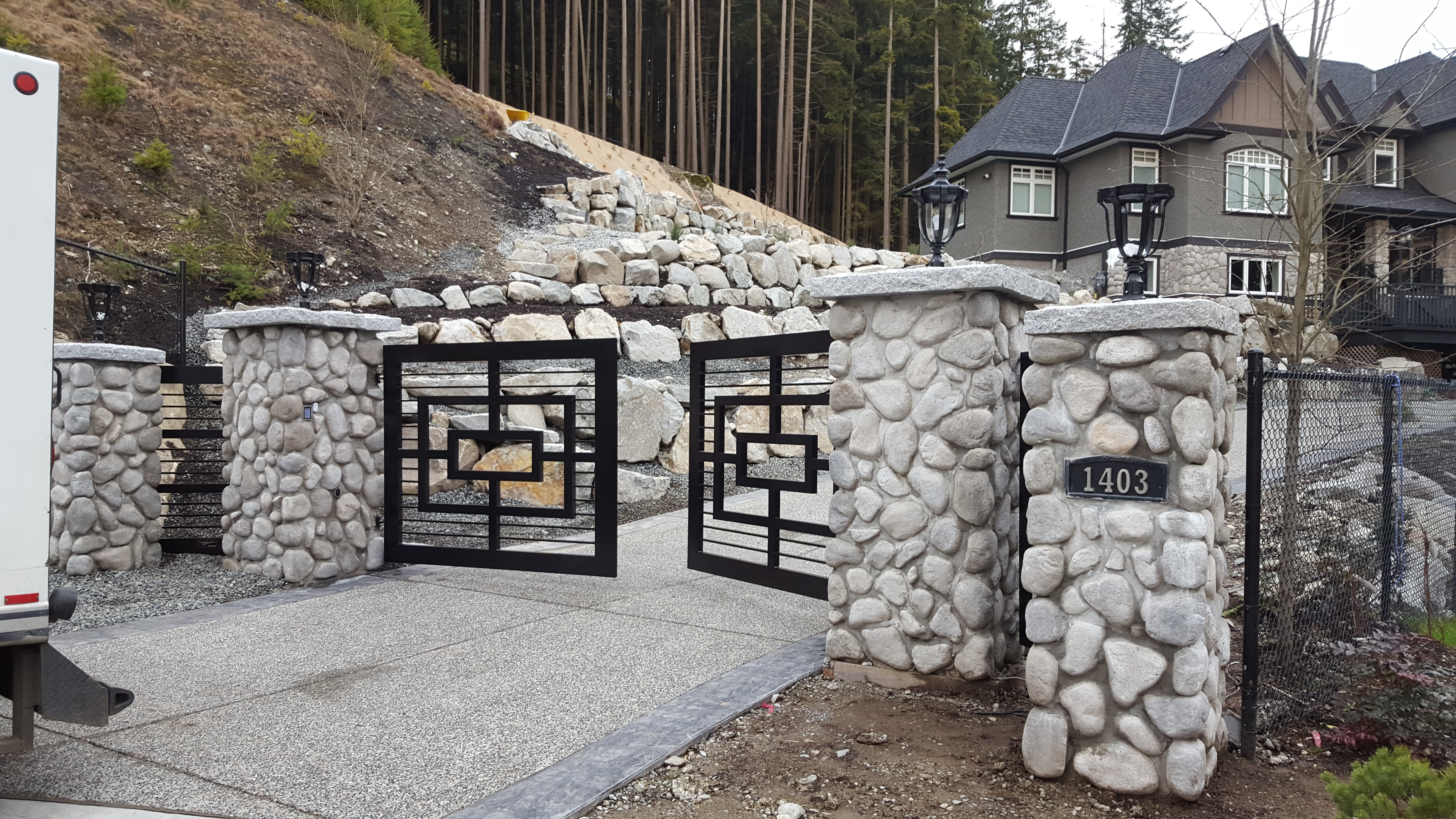 Custom designed swing gates