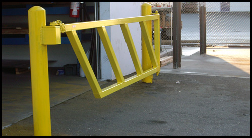 HEAVY DUTY BOOM GATE ACROSS BAY DOOR