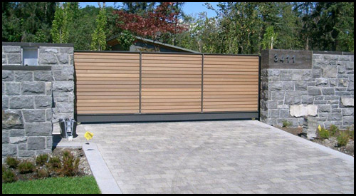 SOLID ALUMINUM TRACK SLIDING DRIVEWAY GATE